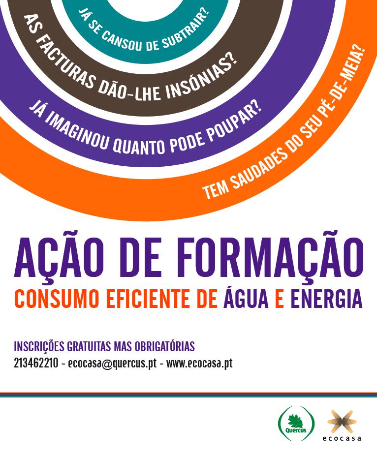 Ação de formação: 'Como poupar no consumo de água e energia em casa'